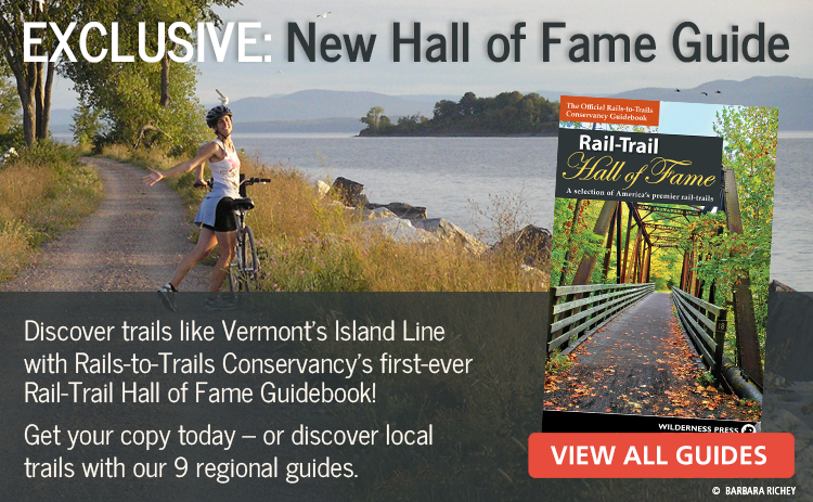 Support Rail-Trails and Get Our New 2016 Hall of Fame Guidebook!
