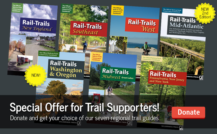 Support Rail-Trails and Pick Your FREE Guidebook Today!